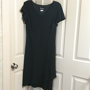SL fashions cap sleeve tea length black dress, 16